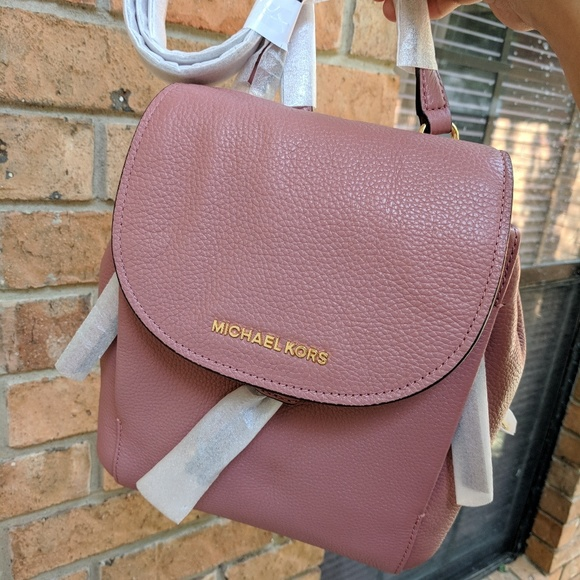 8b1ae302d653 Michael Kors Bags | Riley Md Backpack Leather Rose | Poshmark